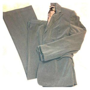 ELIE TAHARI GREY PINSTRIPE SUIT 6 flared pants 2pc